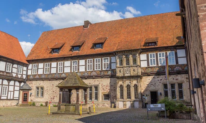 Cour du château de Blomberg photo stock