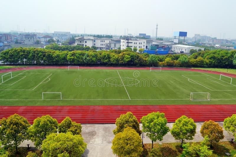 Cour du football photographie stock