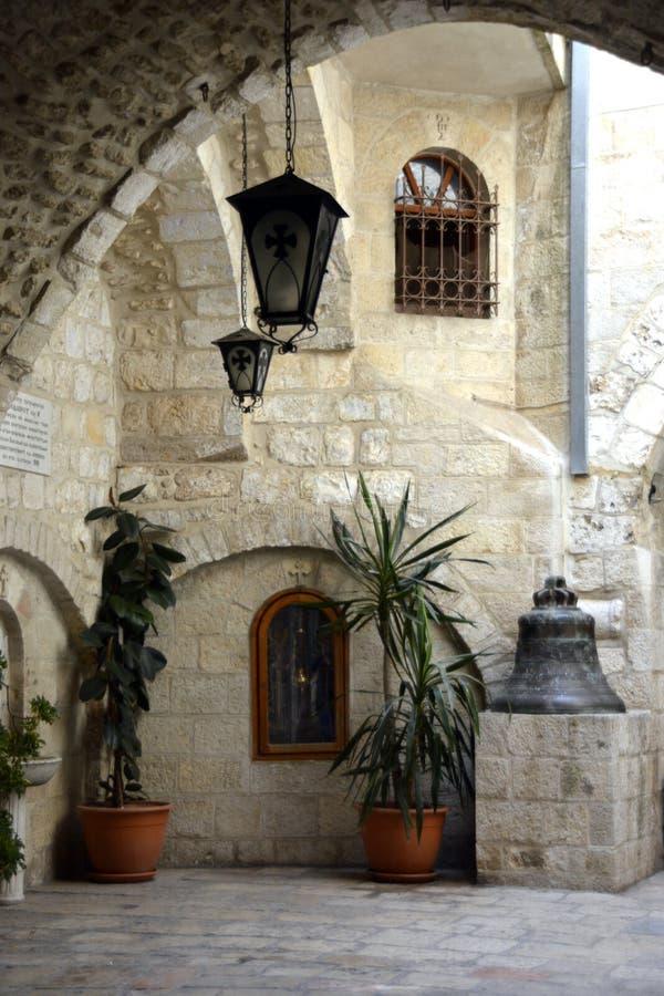 Cour du patriarcat grec de Jérusalem, Christian Quarter, vieille ville image stock