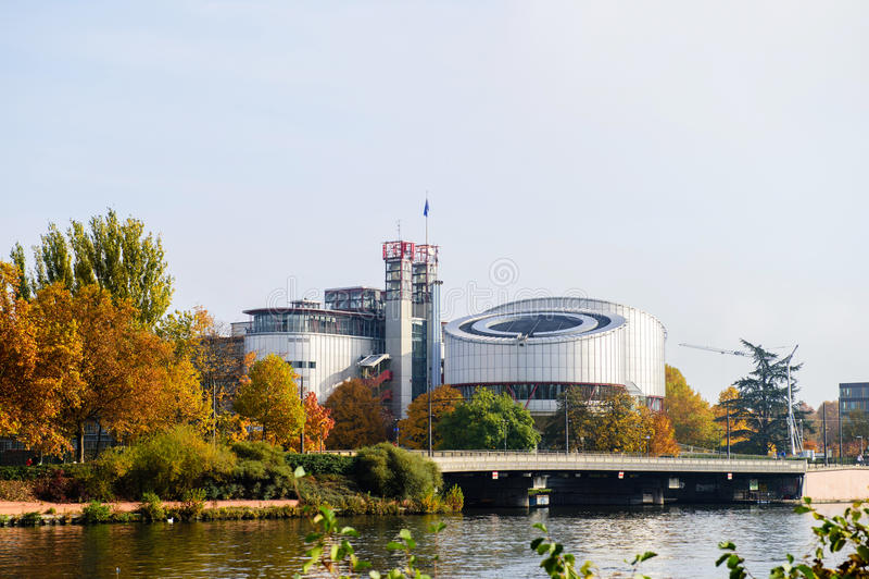 Cour européenne des droits du homme, ecthr, droit de DES d'europeenne de Cour images stock