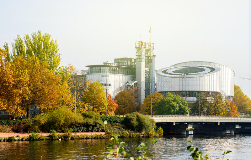 Cour européenne des droits du homme, ecthr, droit de DES d'europeenne de Cour photo libre de droits