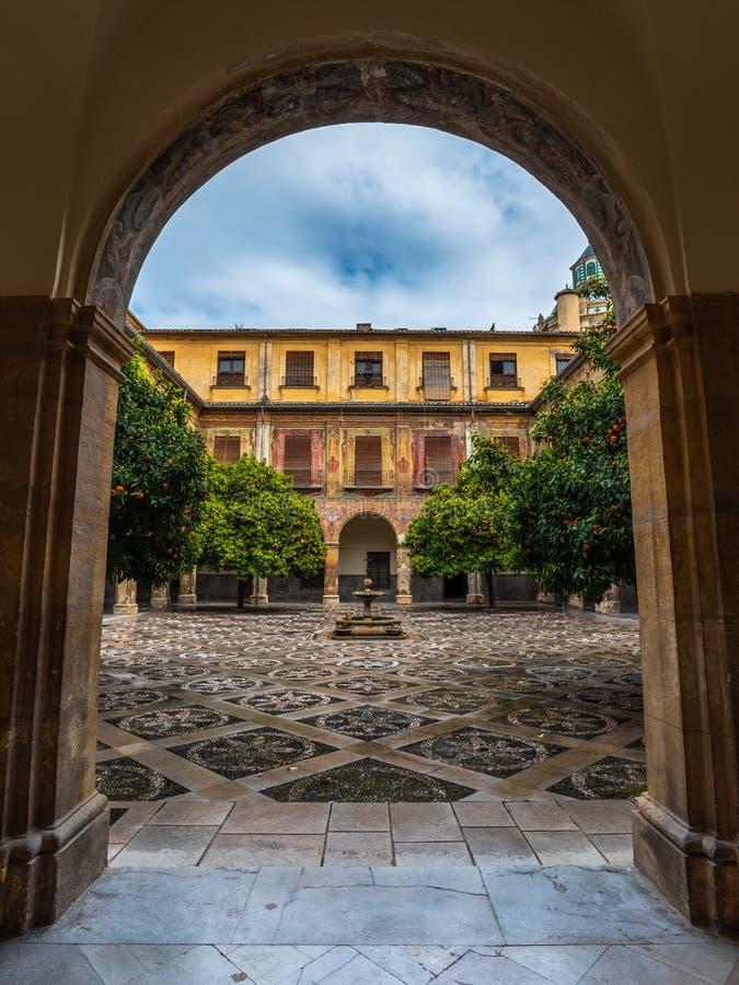 Cour intérieure d'hôpital San Juan De Dios 7 images stock