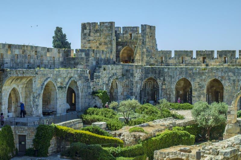 Cour intérieure de citadelle de Jérusalem images stock
