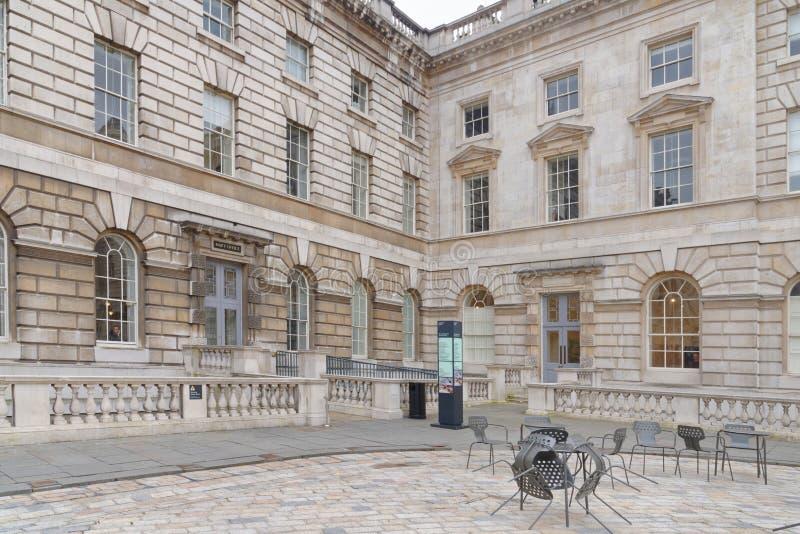 Cour intérieure de maison de Somerset photographie stock