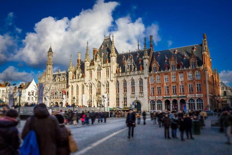 Cour provinciale dans Brugges image libre de droits