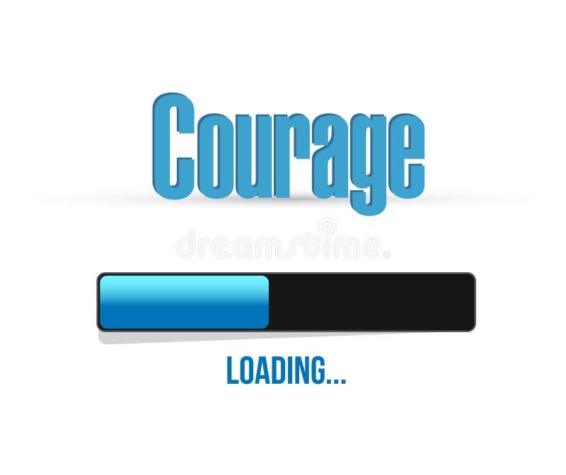 Courage loading bar sign concept illustration. Design graphic royalty free illustration