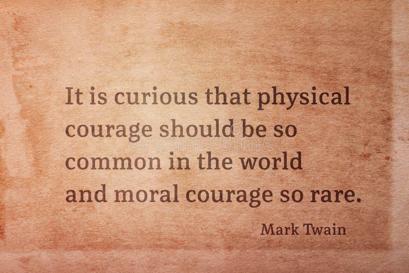 Courage moral Twain images libres de droits