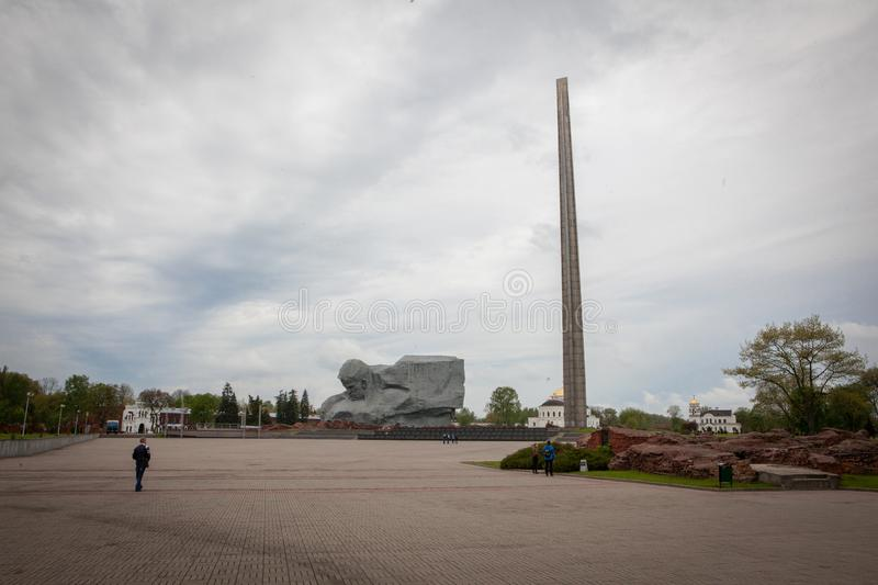 Courage Muzhestvo Monument in Brest Fortress, Brest City, Belarus royalty free stock image