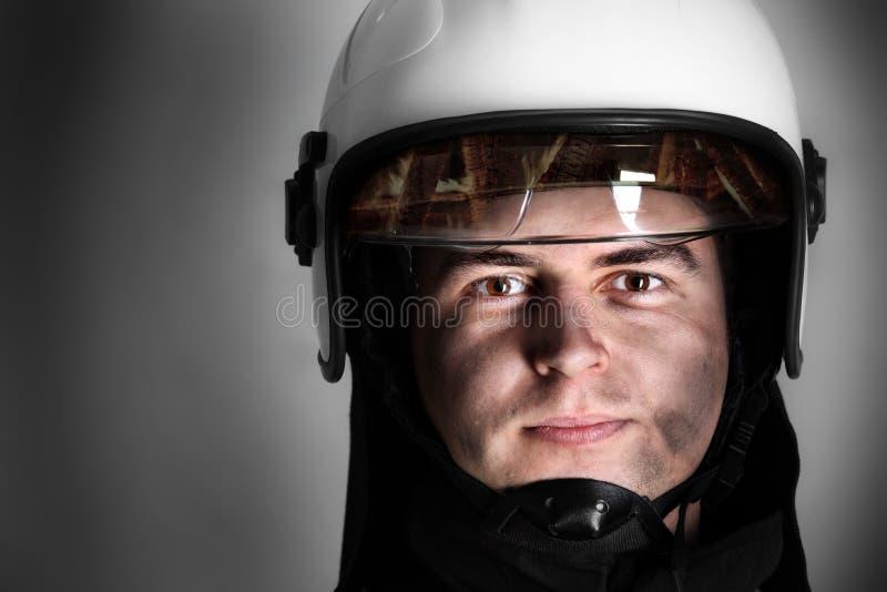 Courageous Fireman Stock Image