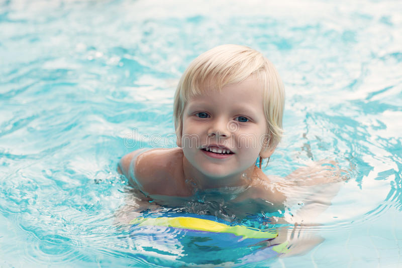 Courageous Swimmer Royalty Free Stock Photography