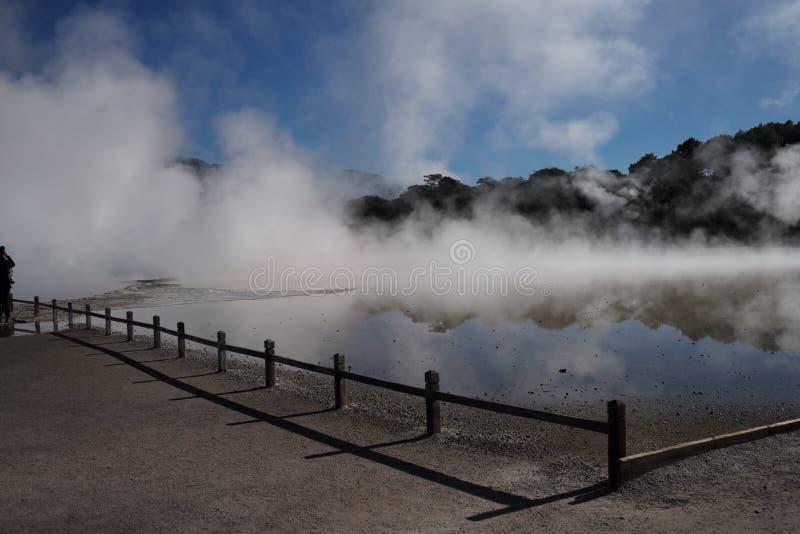 Courant ascendant rouge en Nouvelle Zélande photos stock