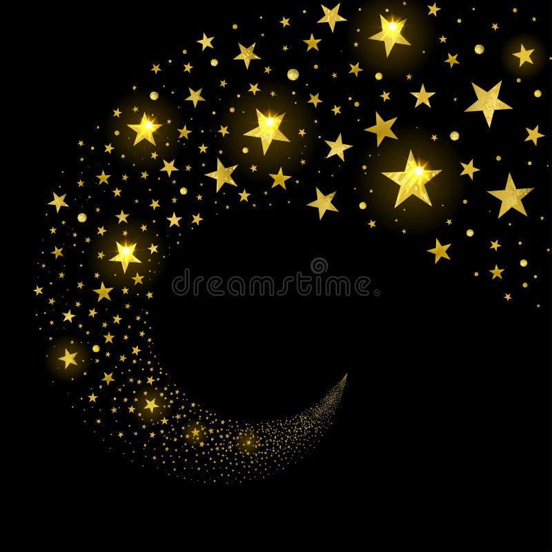 Courant circulaire des étoiles de scintillement illustration libre de droits