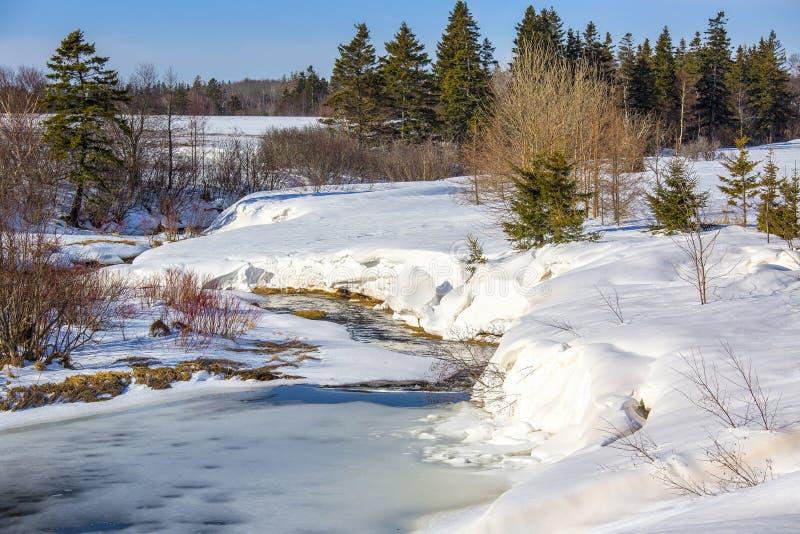 Courant congelé photographie stock