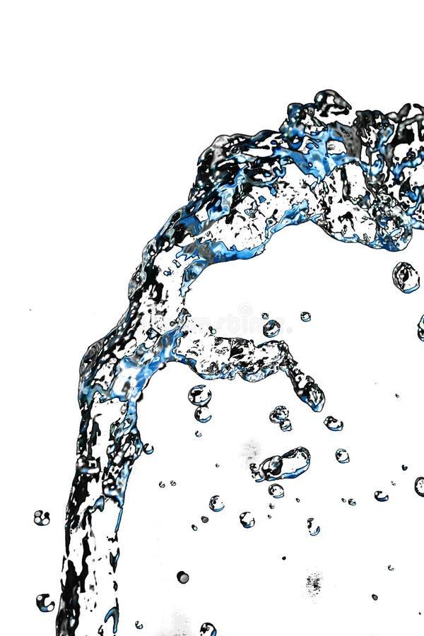 Courant d'eau sur un fond blanc photo libre de droits