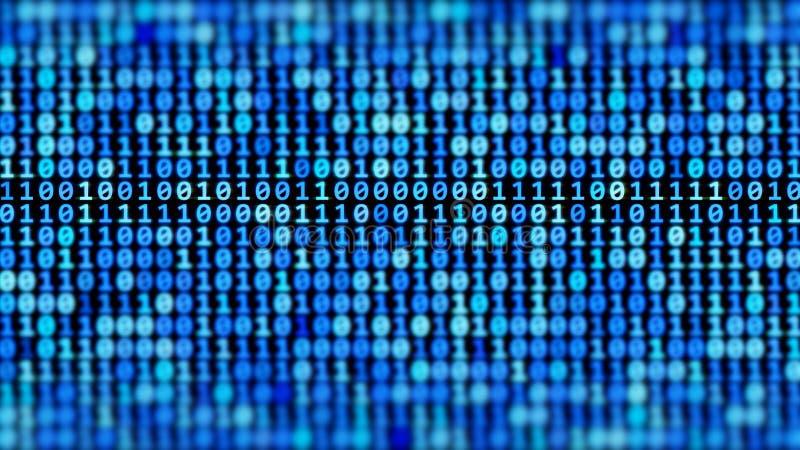 Courant de code binaire illustration libre de droits