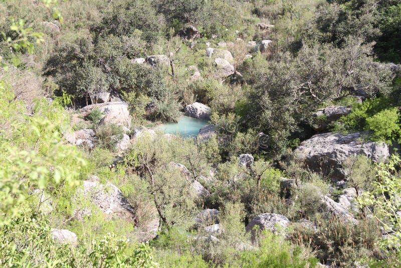 Courant de Neelawahn et montagne de piscines images stock