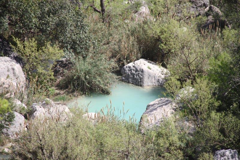 Courant de Neelawahn et montagne de piscines images libres de droits