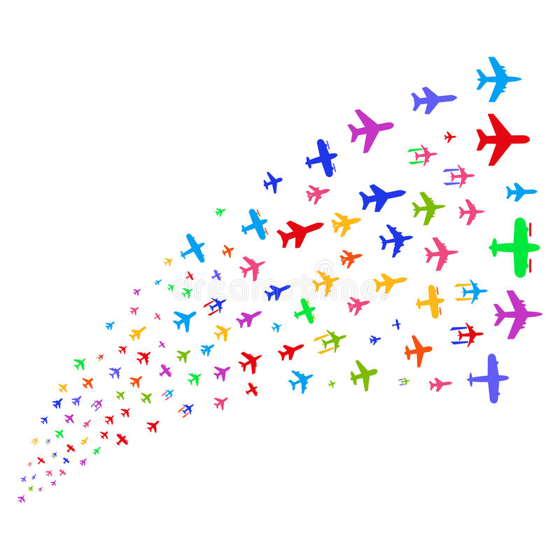 Courant de source des avions illustration libre de droits