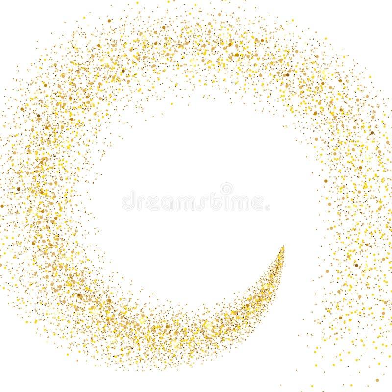 Courant des particules d'or illustration stock