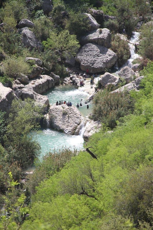 Courant et piscines de Neelawahn de cascade image stock