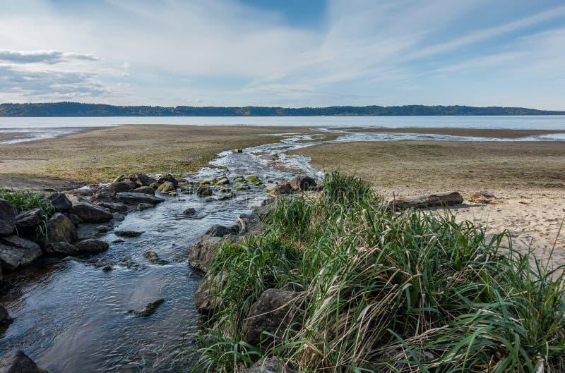 Courant et Shoreline photos libres de droits
