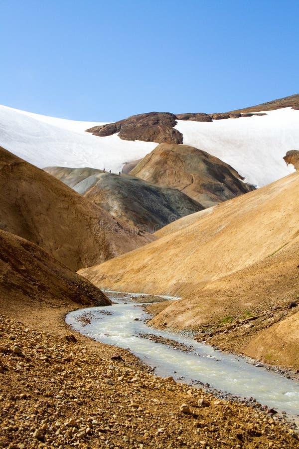Courant géothermique fonctionnant par la vallée image stock