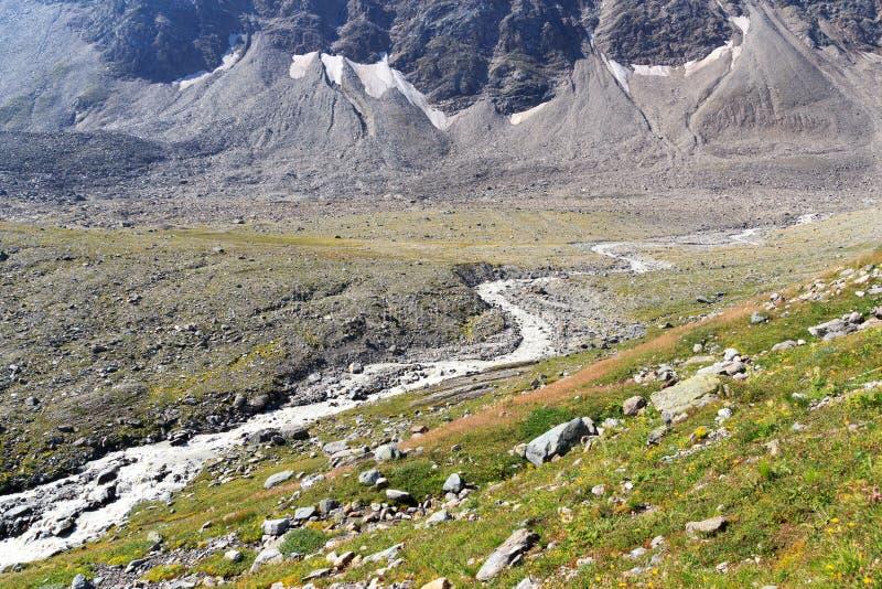 Courant rapide de montagne, Alpes de Hohe Tauern, Autriche photos libres de droits