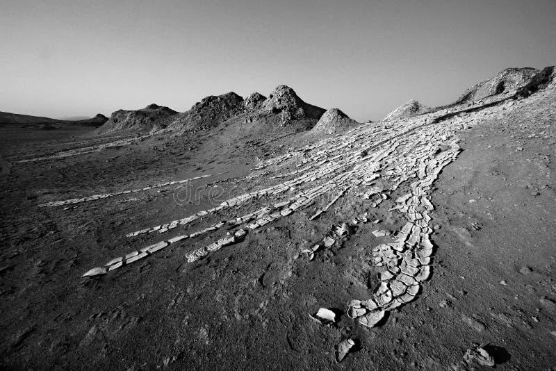 Courants du volcan de boue photo libre de droits