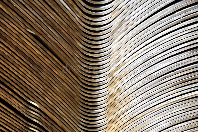 Courbe abstraite en métal photographie stock libre de droits