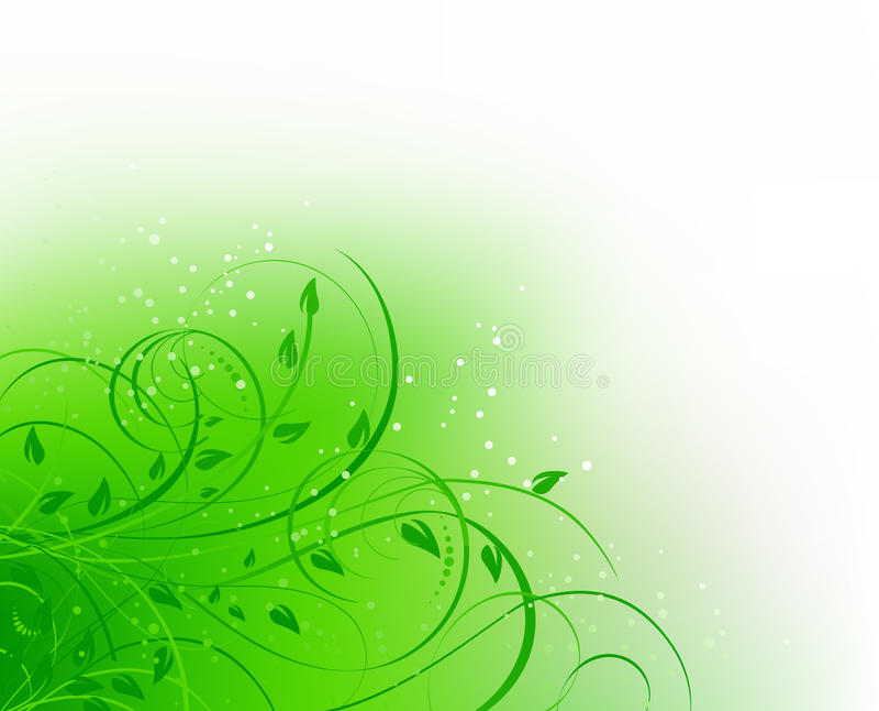 Courbe abstraite florale verte illustration stock