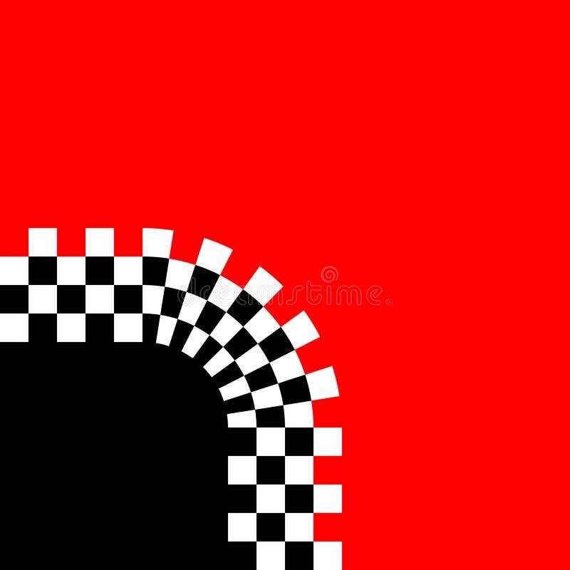 courbe checkered rétro illustration libre de droits