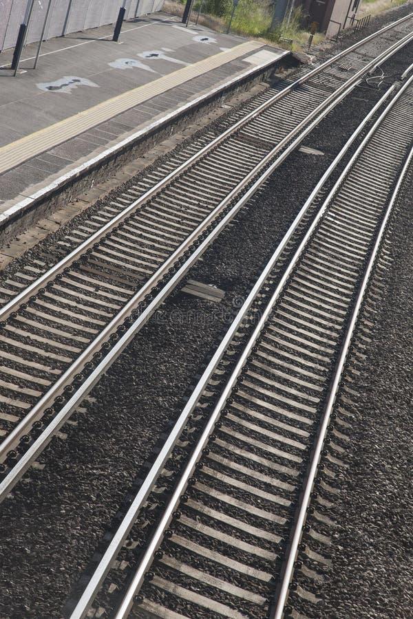 Courbe de voie de train de chemin de fer photos stock