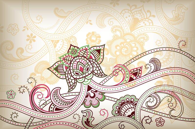 Courbe florale abstraite illustration libre de droits