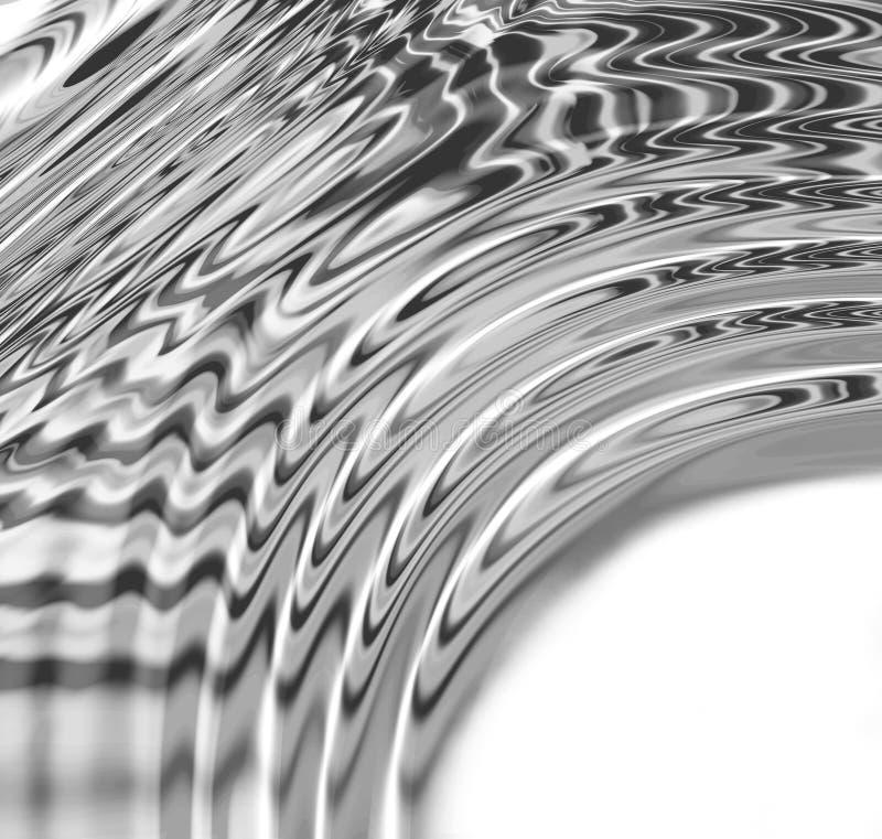 Courbe liquide en métal illustration de vecteur