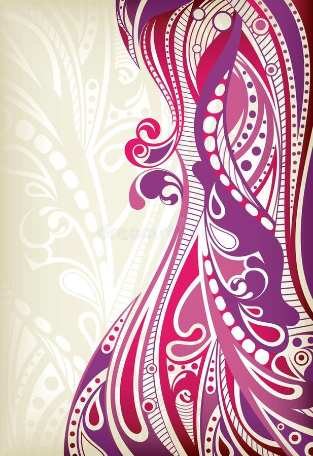 Courbe pourprée abstraite illustration de vecteur