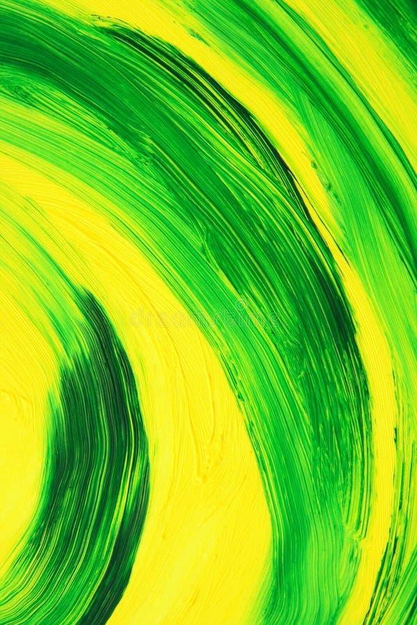 Courbes abstraites pétrole-peintes vibrantes illustration libre de droits