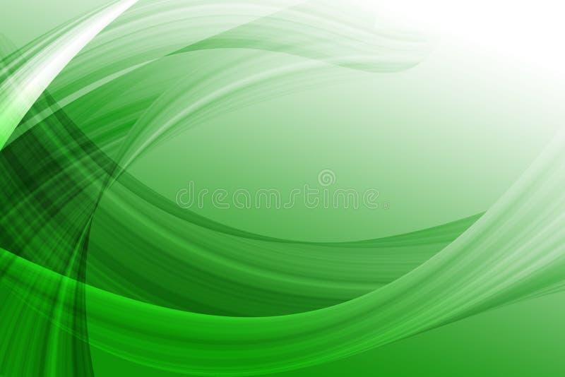 Courbes abstraites vertes illustration libre de droits