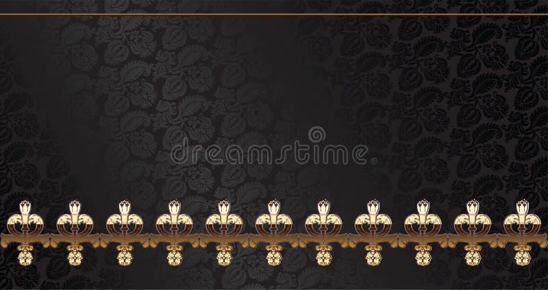 Courbes argentées d'ornement et d'or de cru illustration libre de droits