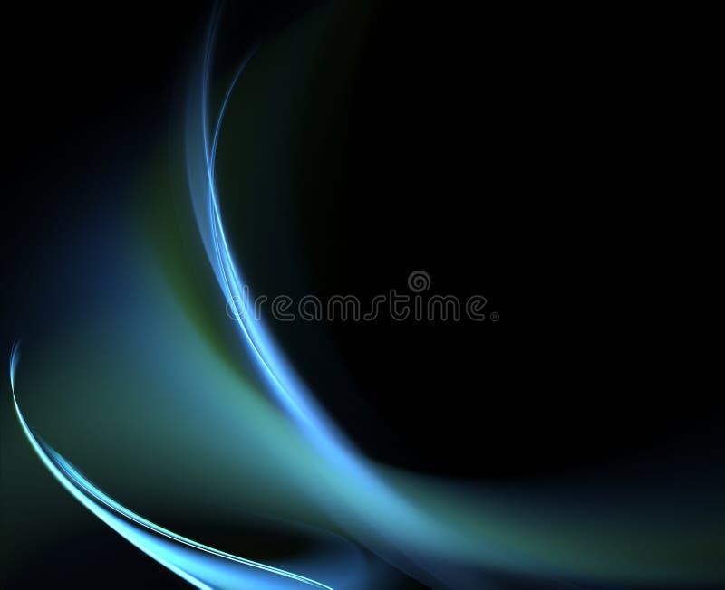 Courbes bleues illustration de vecteur