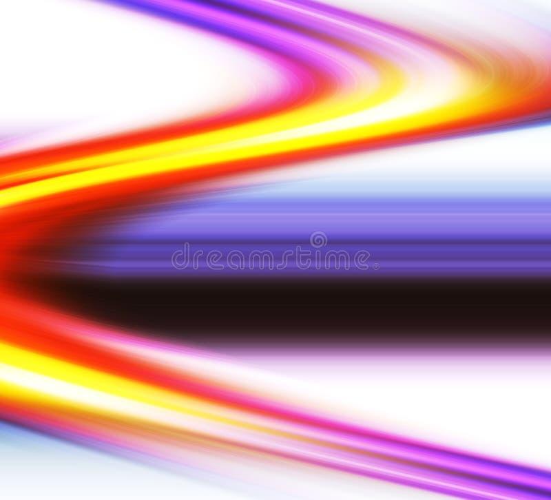 Courbes colorées illustration libre de droits