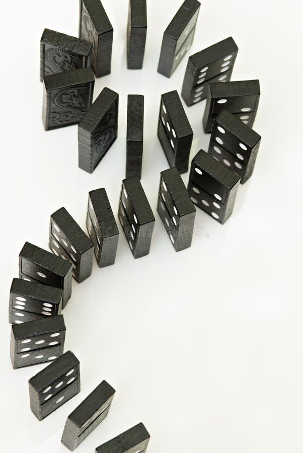 Courbes de domino photos stock