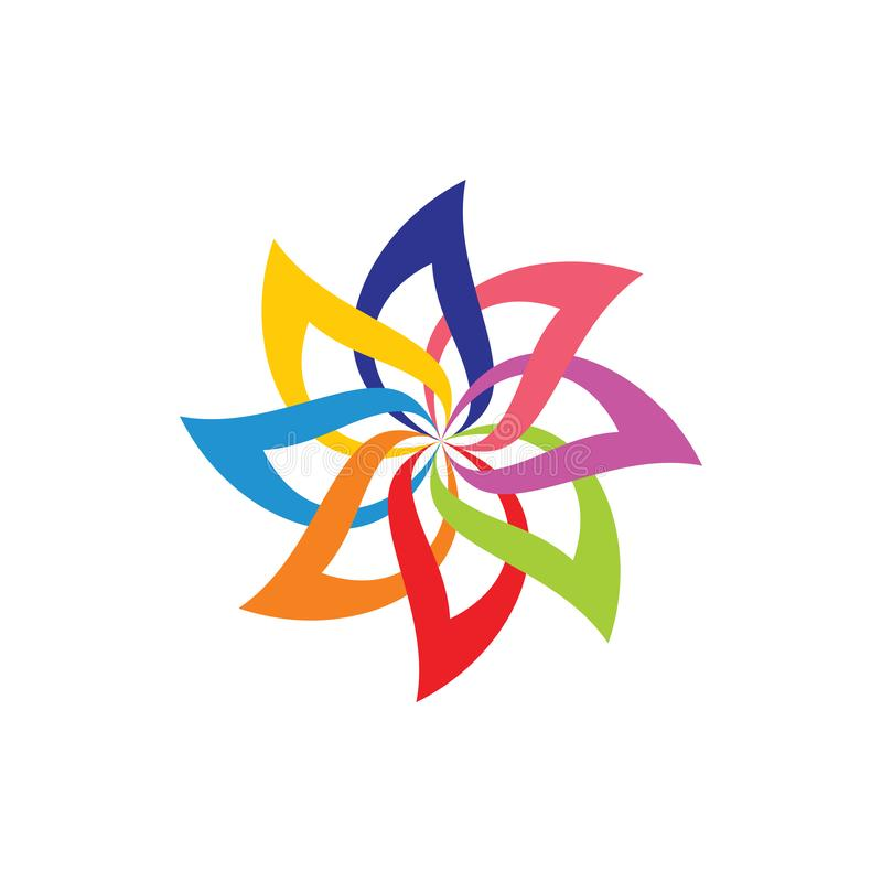 Courbes de fleurs vectorielles de courbure brillante illustration libre de droits