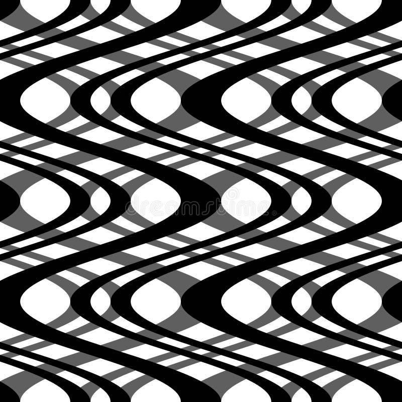 Courbes noires et blanches illustration stock