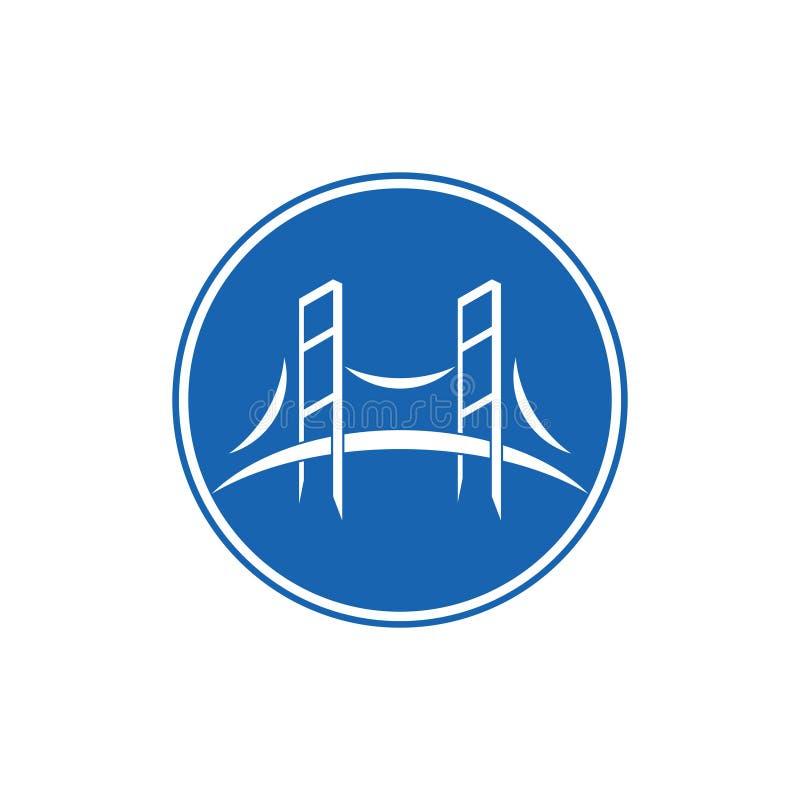 Courbes vectoriel du symbole de pont géométrique illustration stock