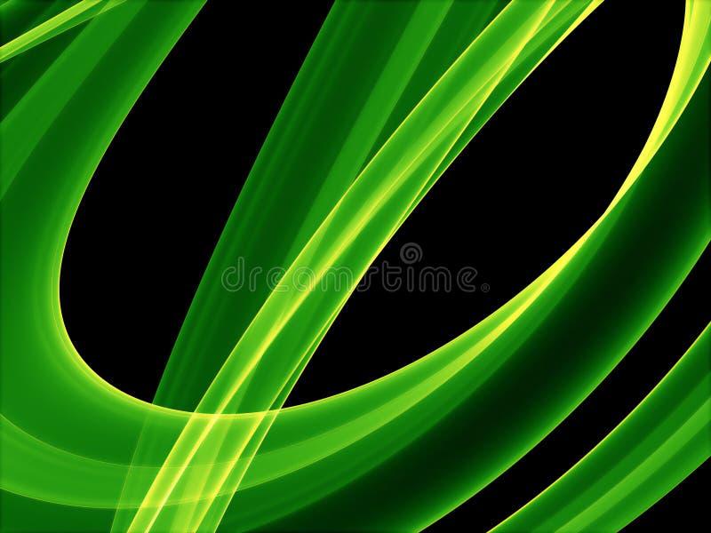 Courbes vertes rougeoyantes illustration stock