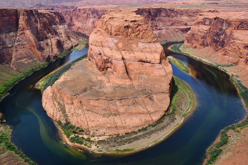Courbure en fer à cheval, le fleuve Colorado, Arizona, Etats-Unis images stock