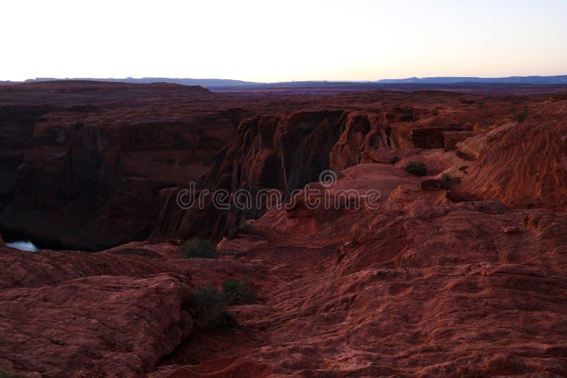 Courbure en fer à cheval près de la ville de la page en Arizona photographie stock libre de droits