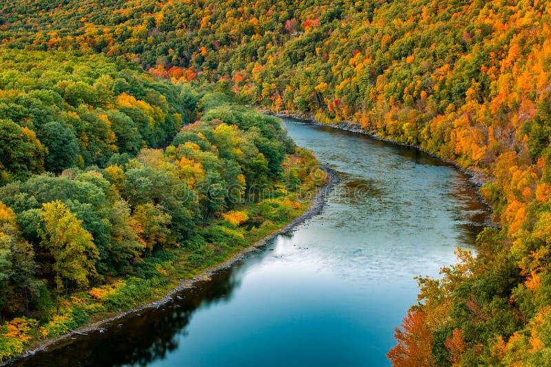 Courbure supérieure du fleuve Delaware photos libres de droits