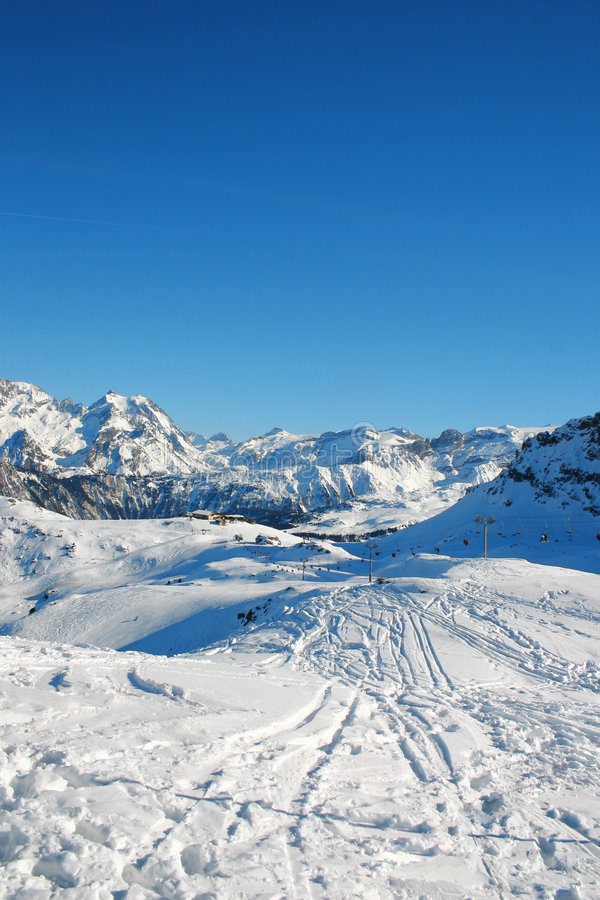 Courchevel - Franse alpen stock foto's