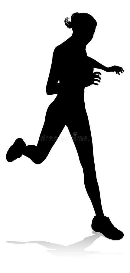 Coureur emballant la silhouette d'athlétisme illustration de vecteur